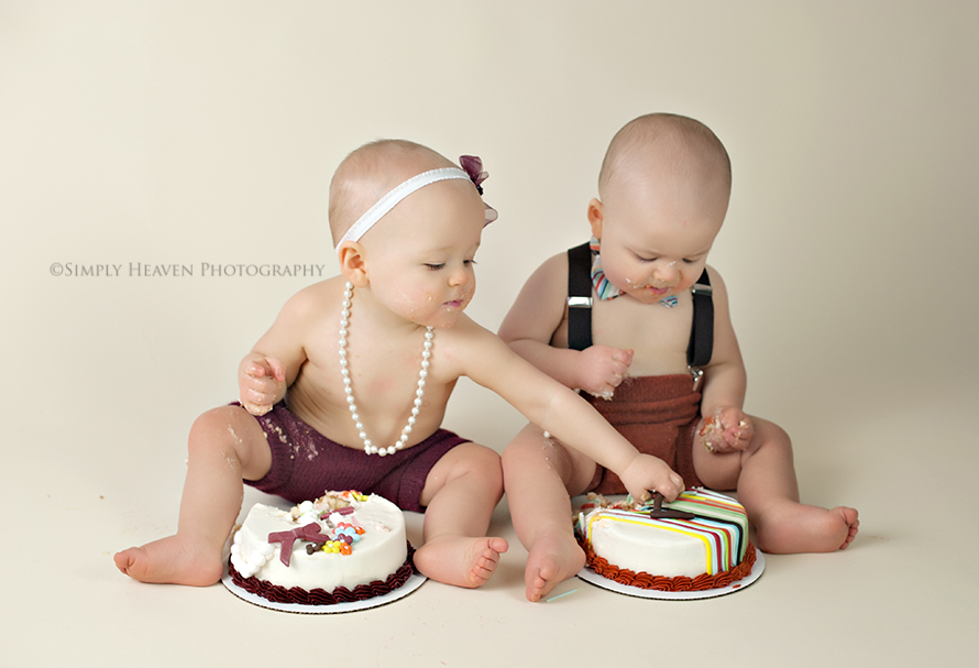 Happy First Birthday Times Two Fayetteville Cake Smash Raeford